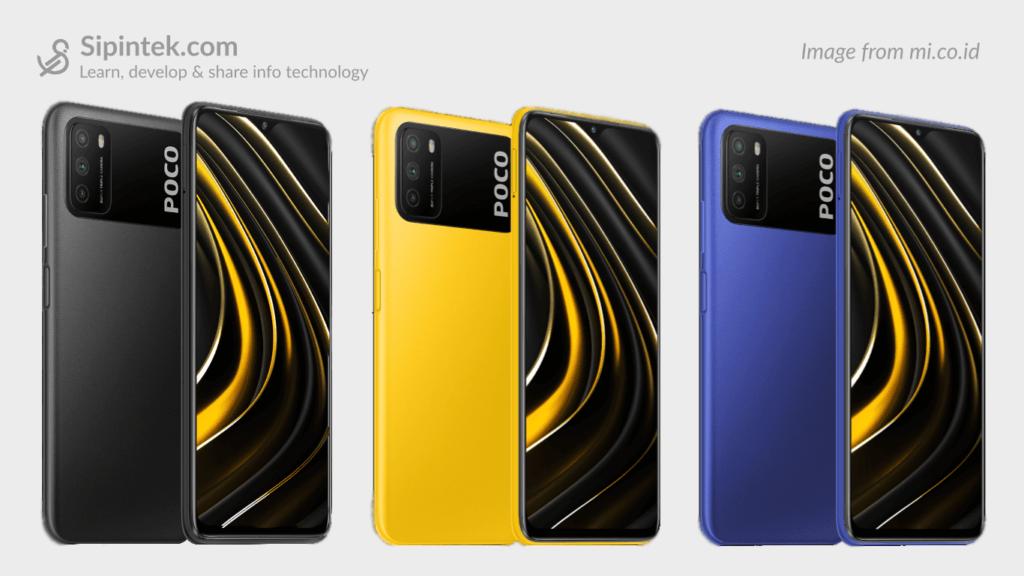 Gambar Desain HP Xiaomi Poco M3