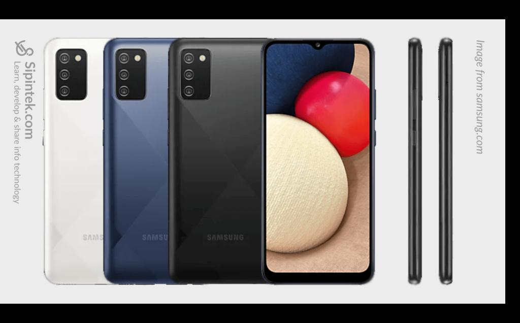 Desain Tampilan Samsung Galaxy A02s