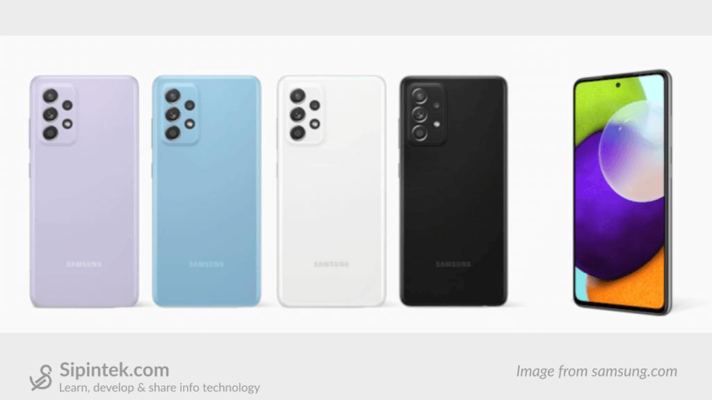 Desain Samsung Galaxy A52
