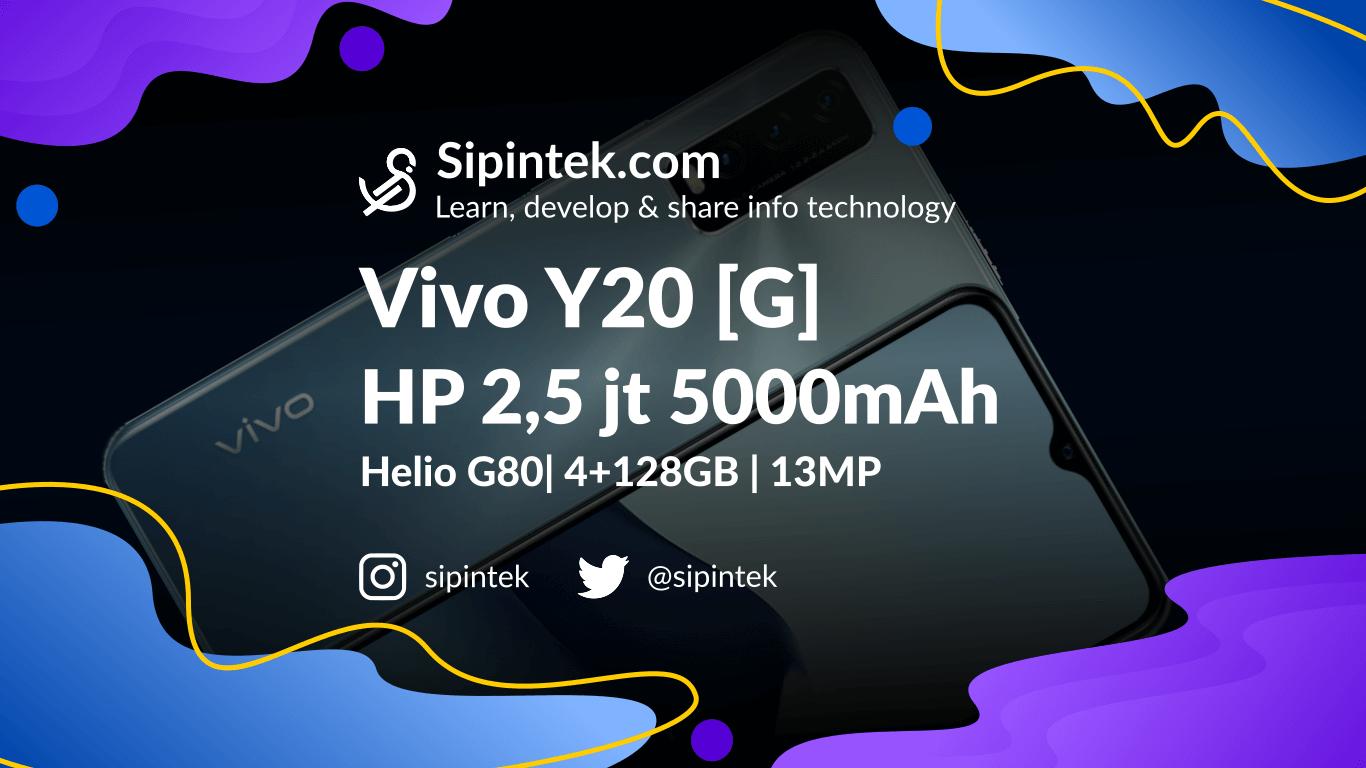 Gambar Harga dan Spek Vivo Y20s [G] - HP Internal Besar 128GB